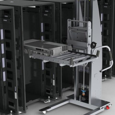 サーバー 電動アーム付きリフト機 SAアームリフト[SA arm-Lift] |三愛化成商事株式会社