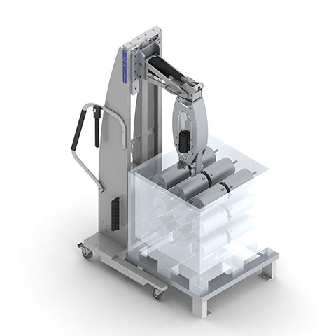 水処理 電動アーム付きリフト機 SAアームリフト[SA arm-Lift] |三愛化成商事株式会社
