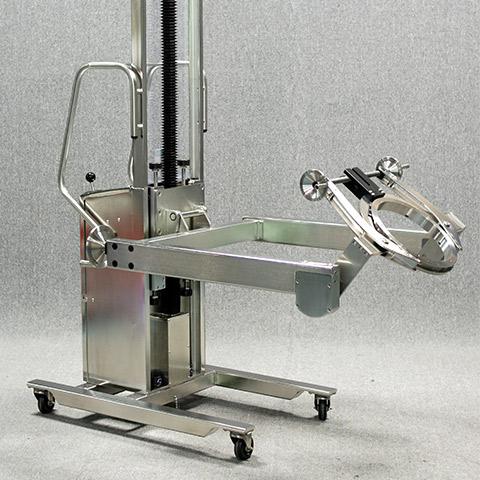 食料と飲料 電動アーム付きリフト機 SAアームリフト[SA arm-Lift] |三愛化成商事株式会社