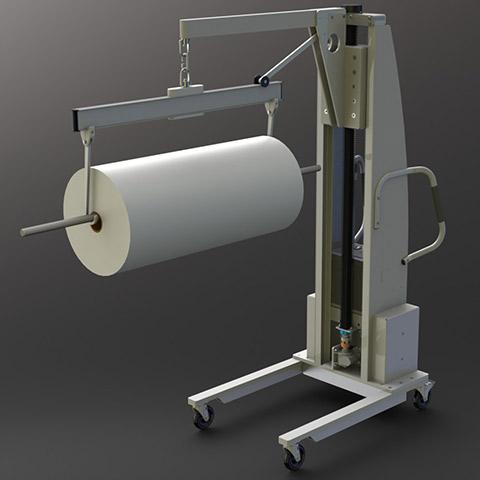 ロール処理 電動アーム付きリフト機 SAアームリフト[SA arm-Lift] |三愛化成商事株式会社