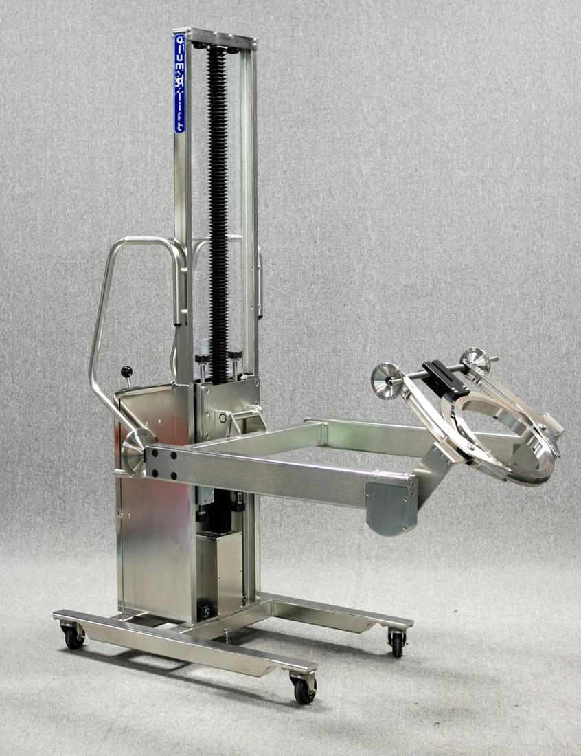 #26429 カスタム手動回転機を備えた本質安全防爆空気圧式ステンレス鋼リフト