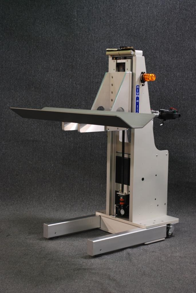#19798 ロールを扱うためのステンレス鋼Vトラフを備えた動力駆動リフト