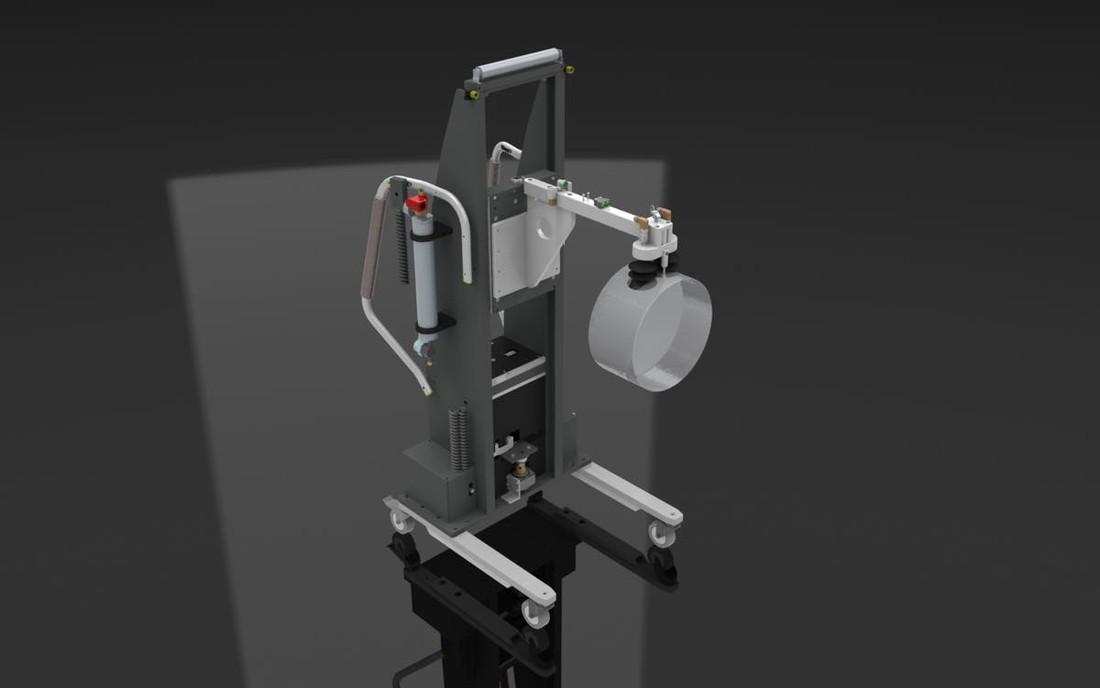 #17439 Vacuum lift for handling quartz preforms