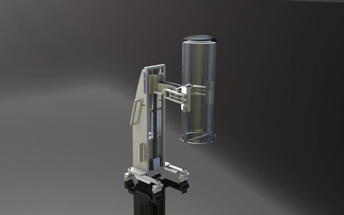#21366 Clamping lifter for handling quartz glass