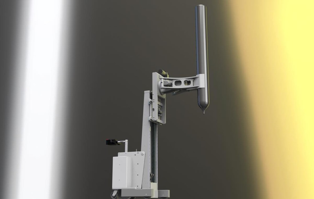 #21766 Powered clamping lift with titling mast for extracting cylinders