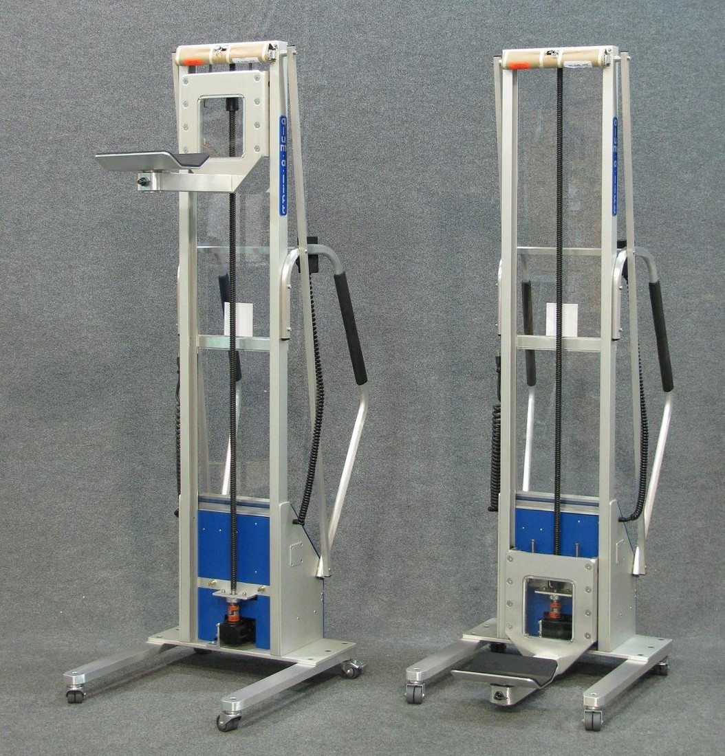 #22438 Light-weight lifts featuring swiveling, rubber-lined v-troughs