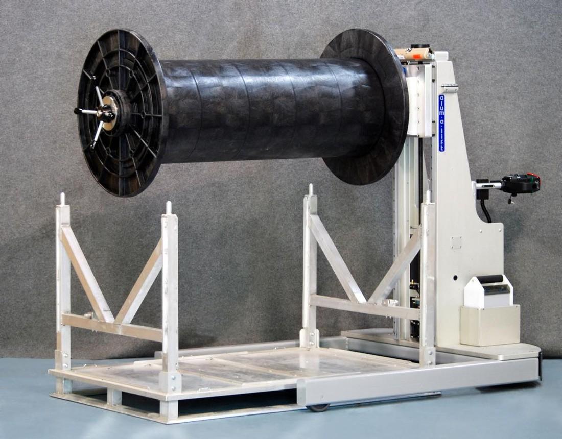 #23059 スプールとリールを巻き戻すための自走式人間工学に基づいたリフトとカート