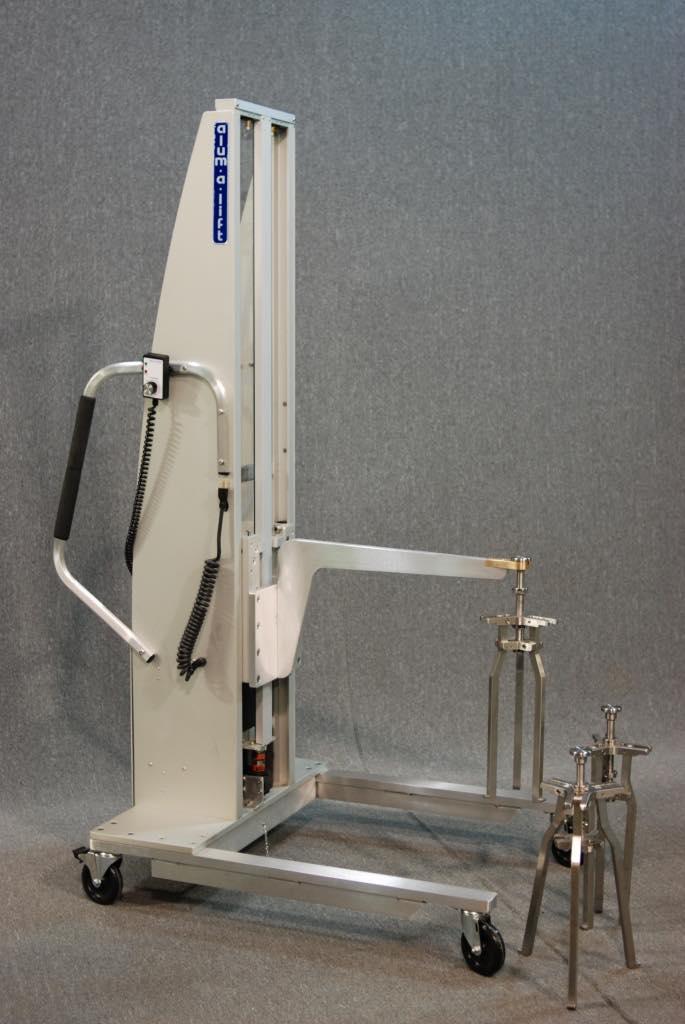 #24552 恒温槽で使用する取り外し可能なステンレス製フックを備えたブームリフト