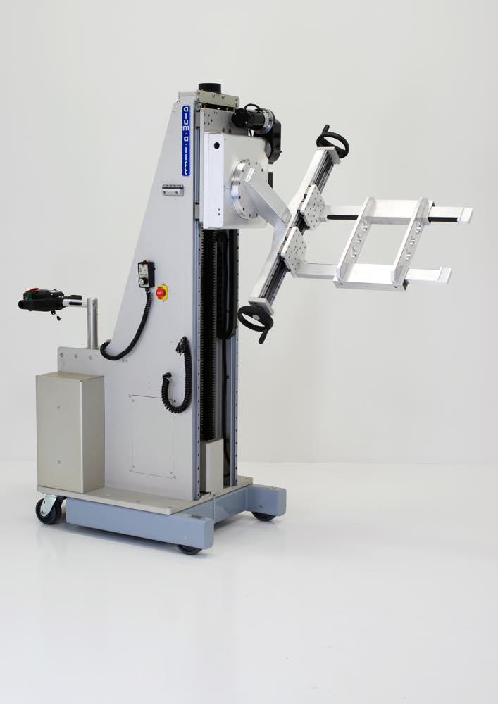 #27286 組立治具を扱うための調整可能なフォークセットを備えた電動トラニオン
