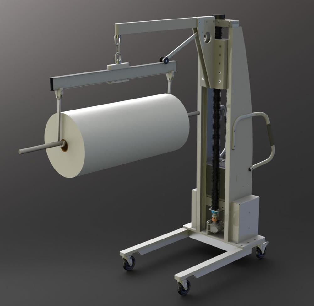 #22103 スルーシャフトソニー付きロール用の旋回式クロスバーを備えた人間工学に基づいたブームリフト