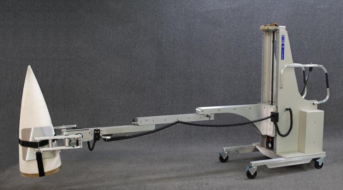 #20251 ノーズコーンを無響室に装填するためのクランプリフトの延長